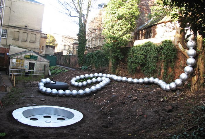 Filthy Luker - Down the Plughole, Royal West of England Academy in Bristol, UK, photo credits - Fubiz, urban interventions, inflatable art